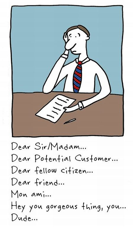 Cover Letter Cartoon from My Marketing Thing