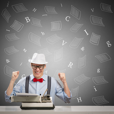 Young writing cheering from Nonprofit Copywriter