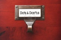 file cabinet labeled Do's and Don'ts
