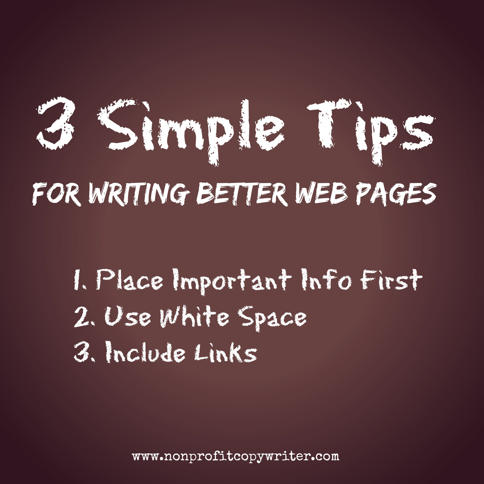 3 simple tips for writing better web pages with Nonprofit Copywriter