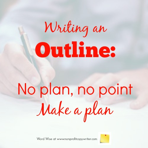 Writing an outline with Word Wise at Nonprofit Copywriter