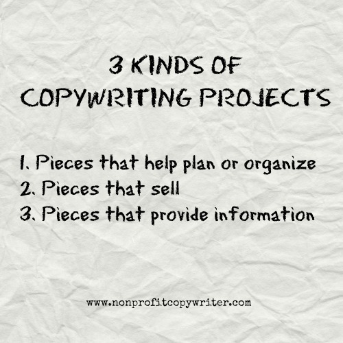 3 Kinds of Writing Projects from Nonprofit Copywriter