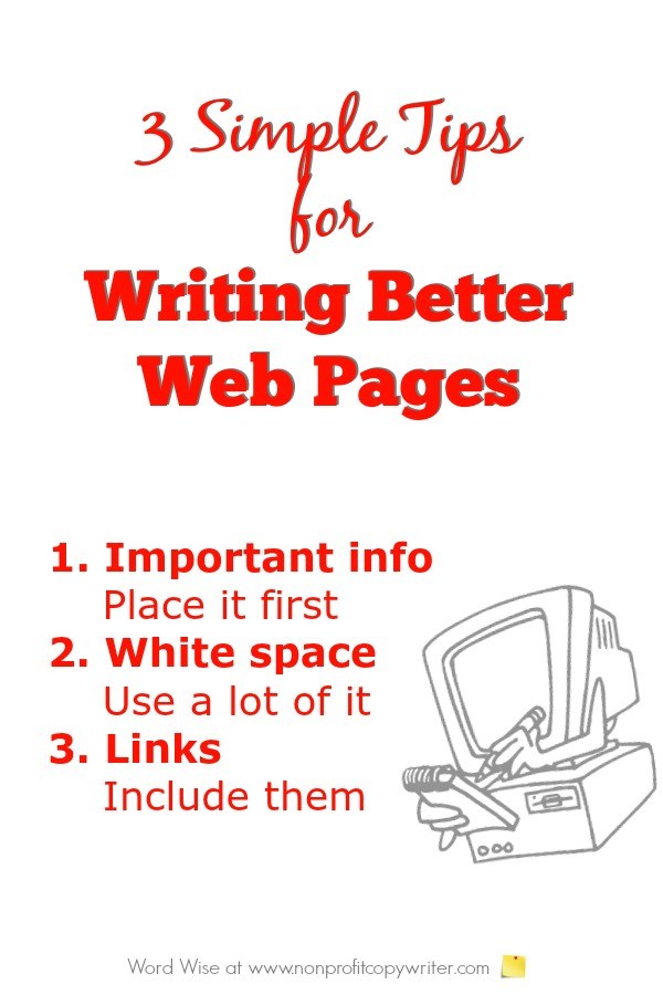 3 simple tips for writing better web pages with Word Wise at Nonprofit Copywriter