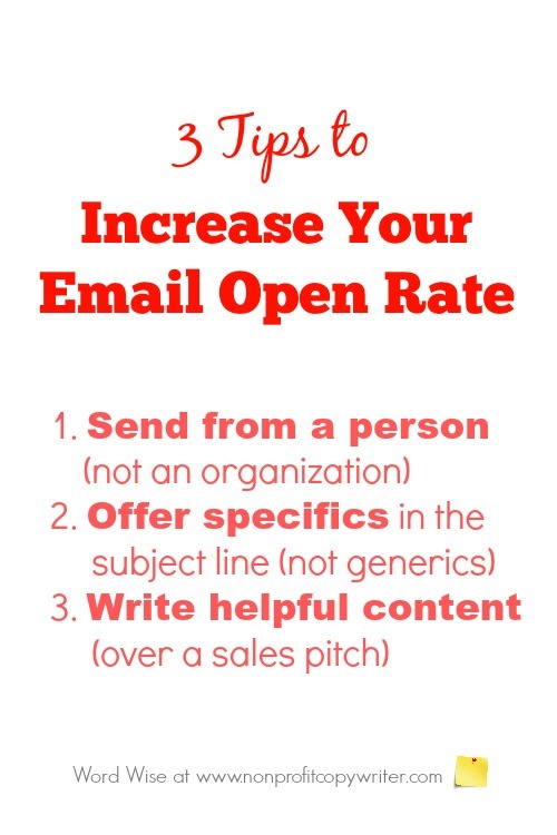 3 tips to increase email open rate with Word Wise at Nonprofit Copywriter