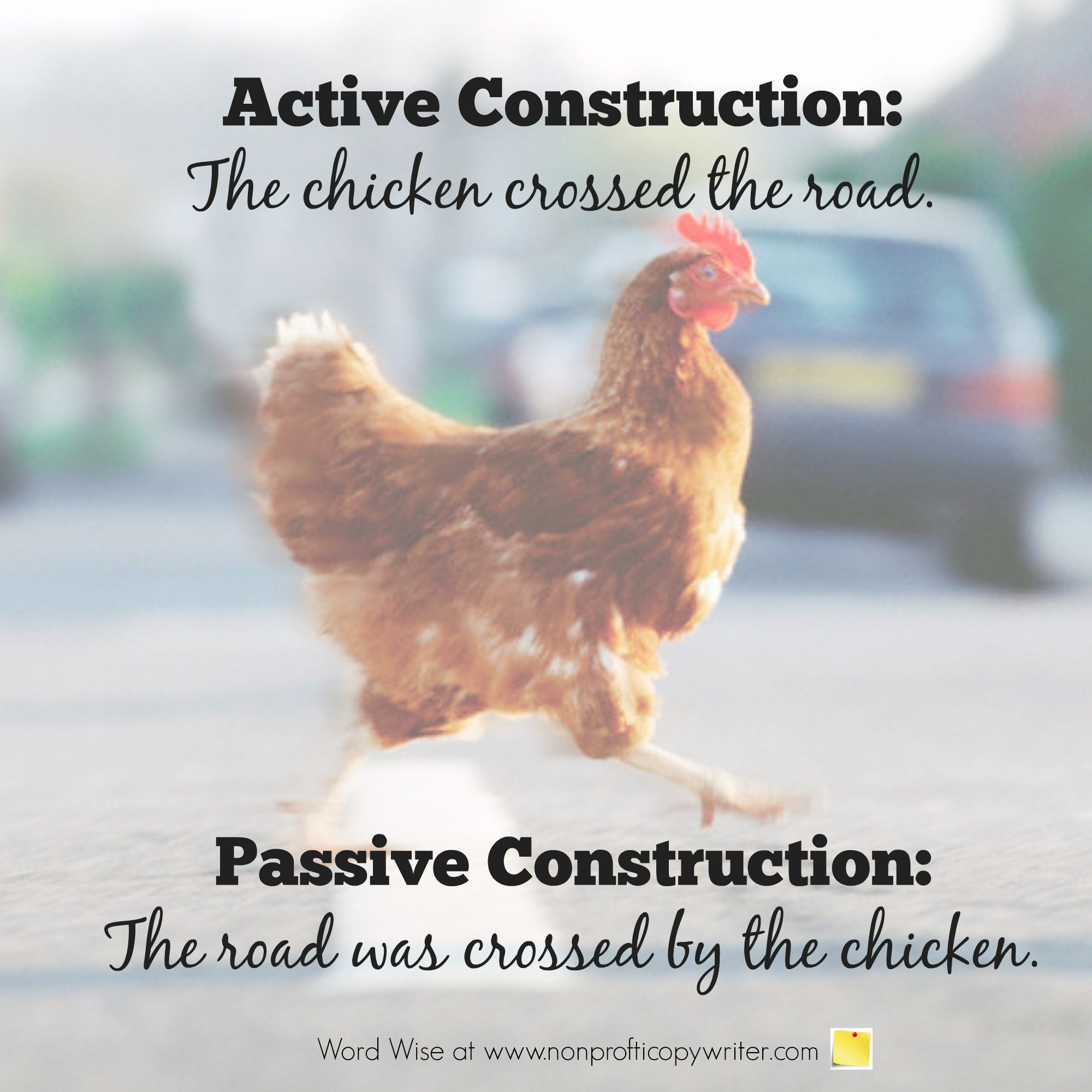 Passive Construction vs. Active Construction with Word Wise at Nonprofit Copywriter