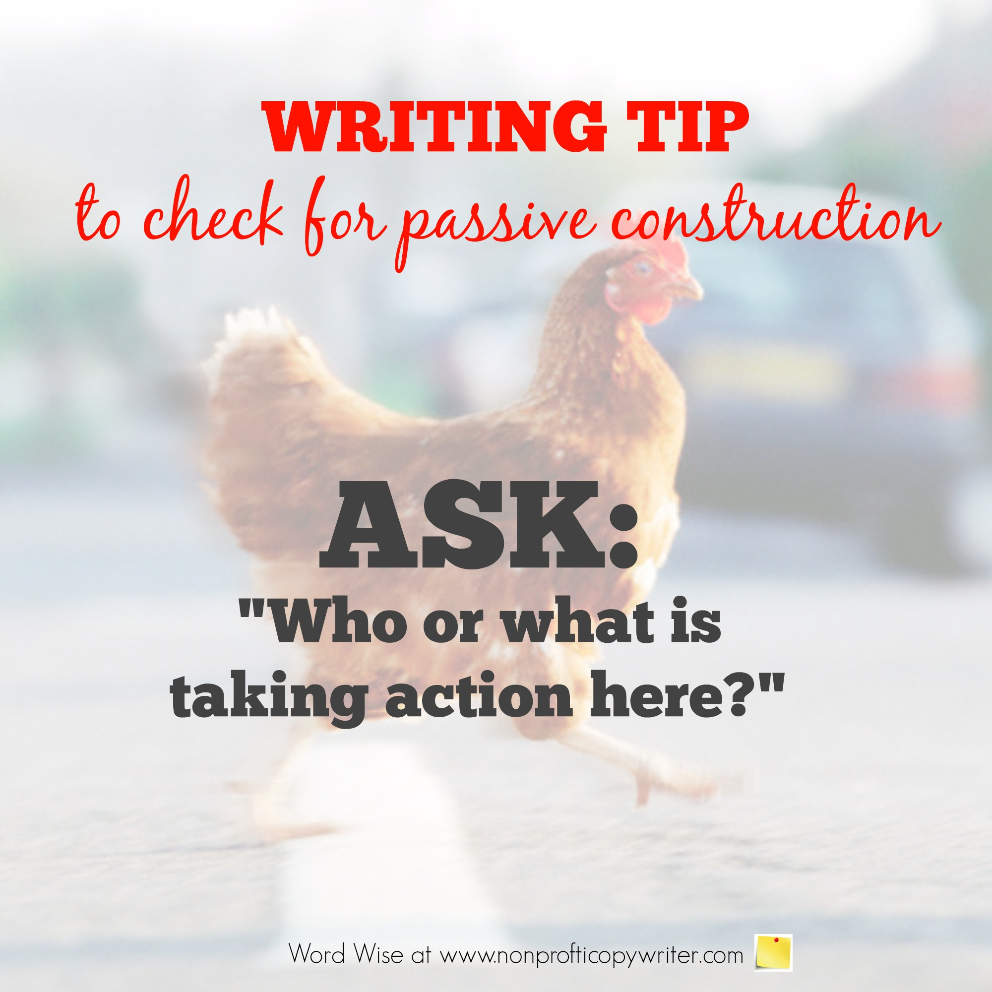 Writing Tip: how to check and fix passive construction with Word Wise at Nonprofit Copywriter