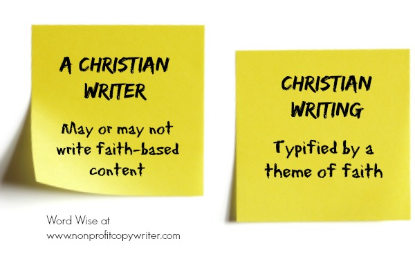 Christian writer vs. Christian writing with Word Wise at Nonprofit Copywriter