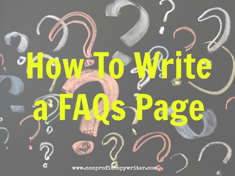 How to Write a FAQ Page with Nonprofit Copywriter