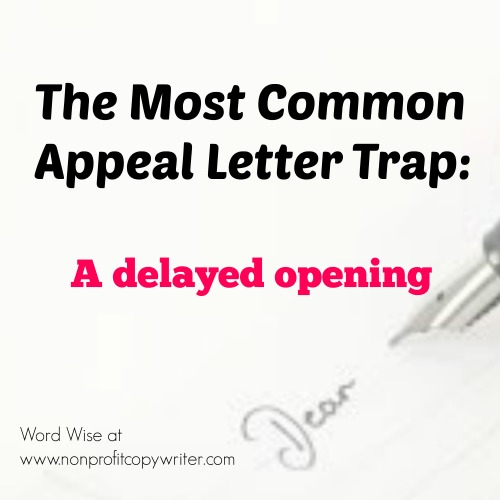 The most common appeal letter trap with Word Wise at Nonprofit Copywriter