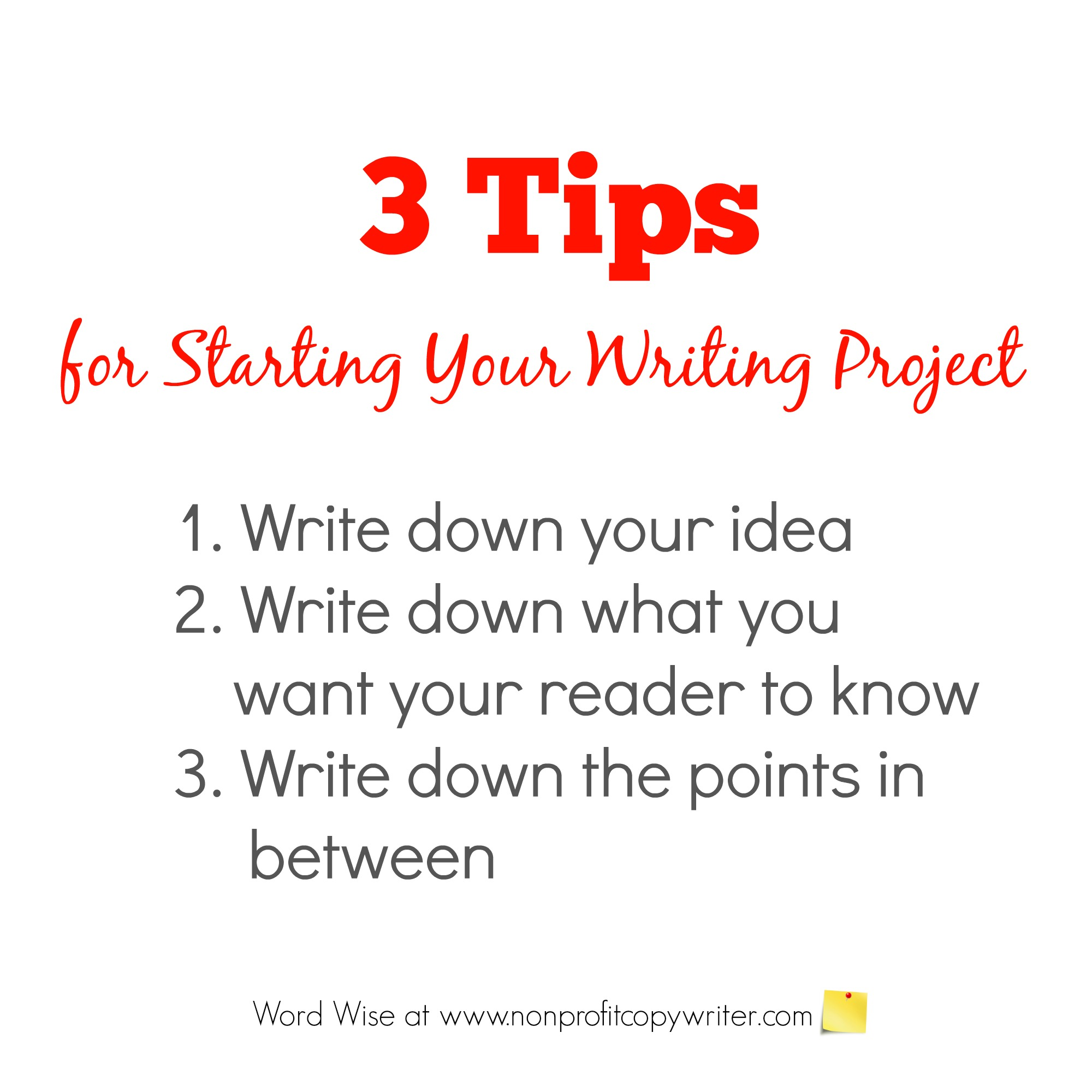 3 tips for starting your writing project with Word Wise at Nonprofit Copywriter