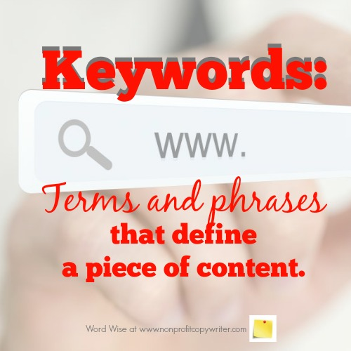 How keywords work with Word Wise at Nonprofit Copywriter