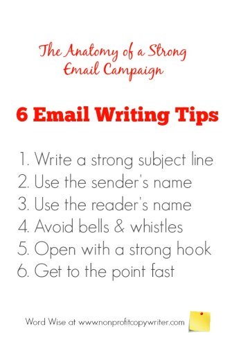 6 email writing tips with Word Wise at Nonprofit Copywriter