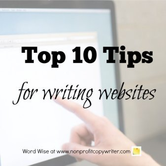 Top ten tips for writing websites with Word Wise at Nonprofit Copywriter