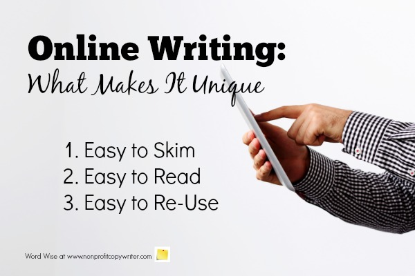 Online Writing: what makes it unique with Word Wise at Nonprofit Copywriter