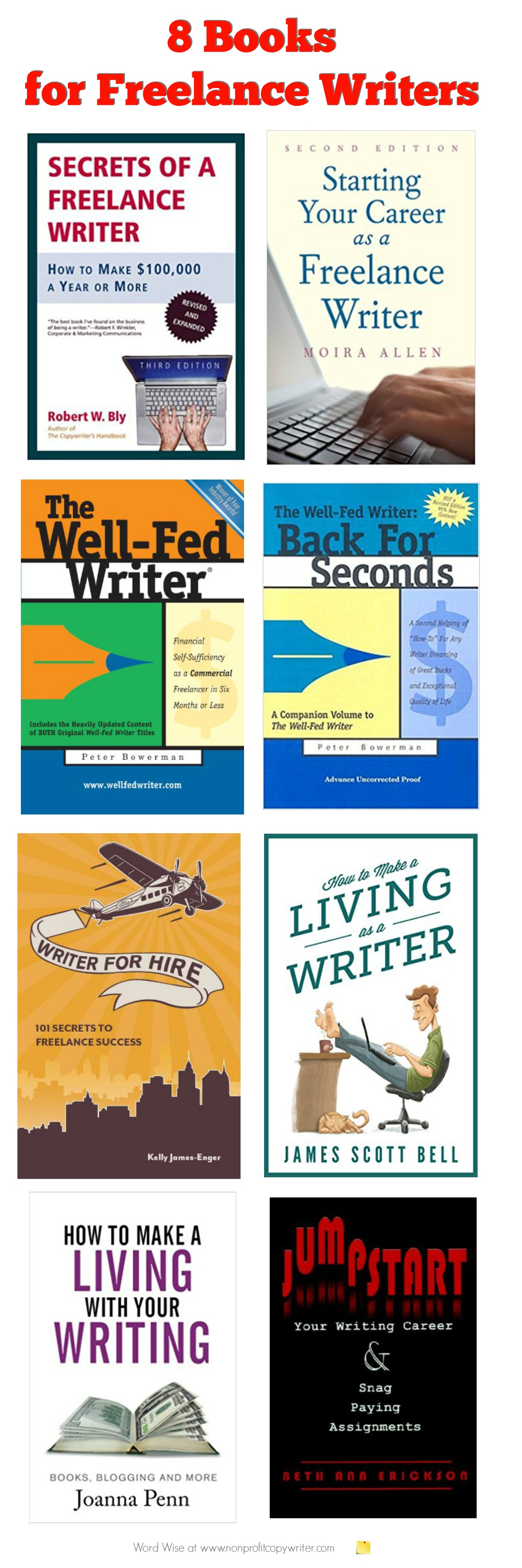 8 books for freelance writers with Word Wise at Nonprofit Copywriter