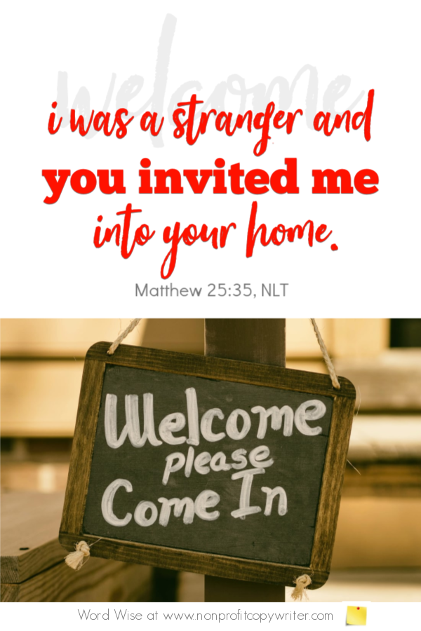 The Homepage: welcome visitors to your website. A devotional for writers from Word Wise with Nonprofit Copywriter #ChristianWriting #WebWriting #FreelanceWriting