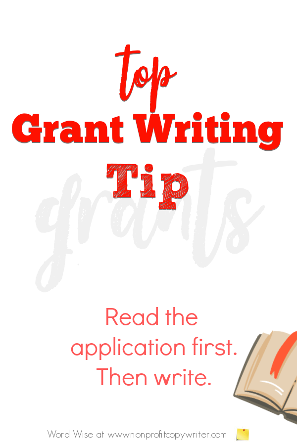 Top grant writing tip with Word Wise at Nonprofit Copywriter #nonprofits #grants