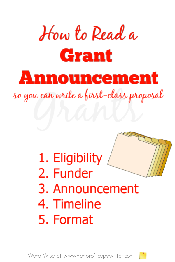 How to read a grant application so you can write a first-class grant with Word Wise at Nonprofit Copywriter #nonprofits #GrantWriting