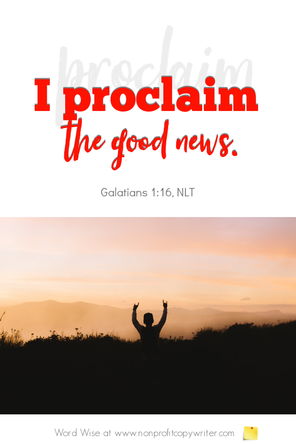 The Mission Statement: an online devotional for writers based on Gal 1:16 with Word Wise at Nonprofit Copywriting #ChrsitianWriting #amwriting #StrategicPlanning