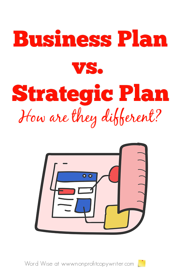 Strategic Planning for Nonprofits: how it is different from a business plan with Word Wise at Nonprofit Copywriter #WritingTIps #Nonprofits