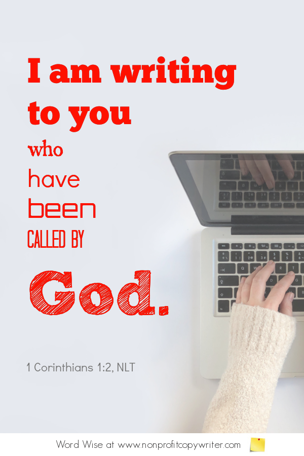 The Email Segment - a #devotional for #writers based on 1 Cor 1:2 with Word Wise at Nonprofit Copywriter #FreelanceWriting #ChristianWriting