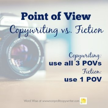Point of view (POV) in copywriting vs. fiction with Word Wise at Nonprofit Copywriter