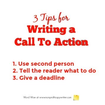 3 tips for writing a call to action (CTA) with Word Wise at Nonprofit Copywriter