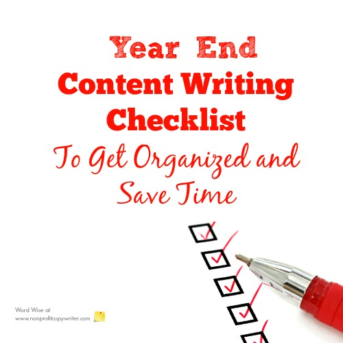 Year-End Writing Checklist with Word Wise at Nonprofit Copywriter