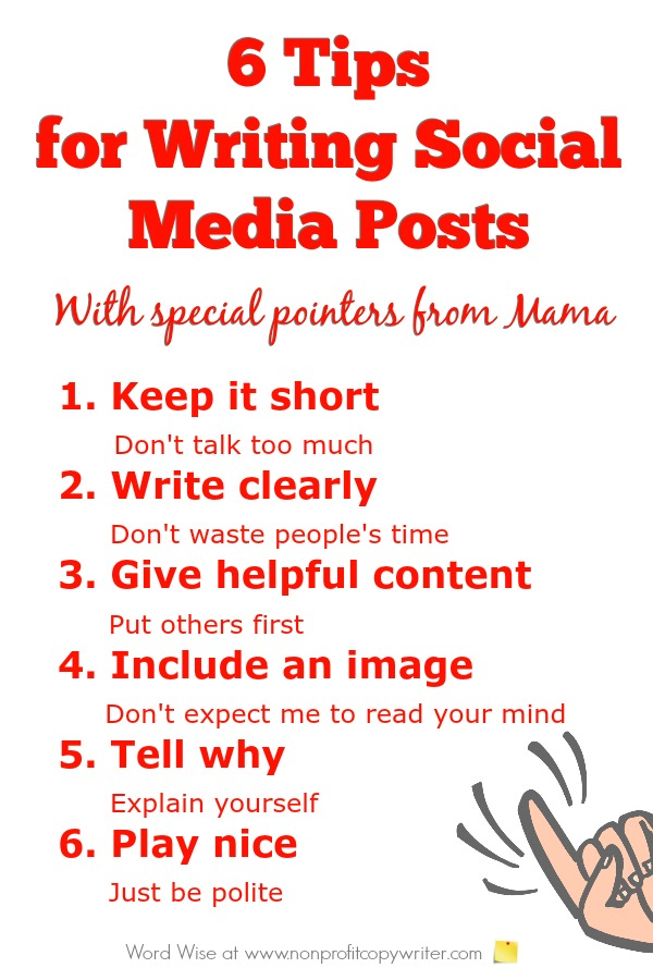 6 quick tips for writing social media posts with Word Wise at Nonprofit Copywriter