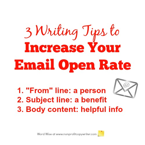 3 writing tips to increase your email open rate with Word Wise at Nonprofit Copywriter