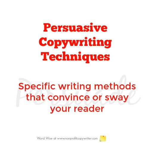 Persuasive Copywriting Techniques with Word Wise at Nonprofit Copywriter
