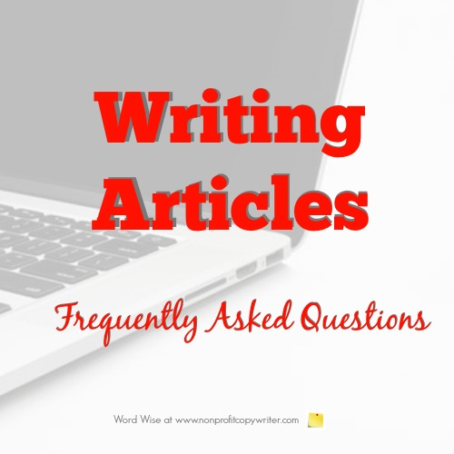 Writing Articles FAQs with Word Wise at Nonprofit Copywriter