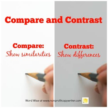 Compare and contrast to make your point in a devotional with Word Wise at Nonprofit Copywriter