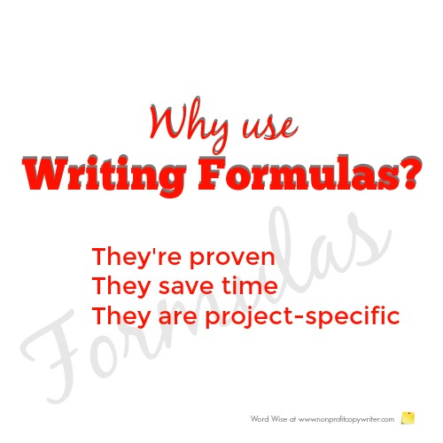 Why use writing formulas? with Word Wise at Nonprofit Copywriter