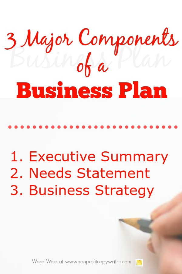 3 major components of a business plan for nonprofits and how to start writing them with Word Wise at Nonprofit Copywriter