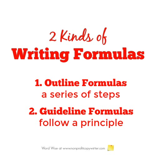 2 kinds of writing formulas with Word Wise at Nonprofit Copywriter