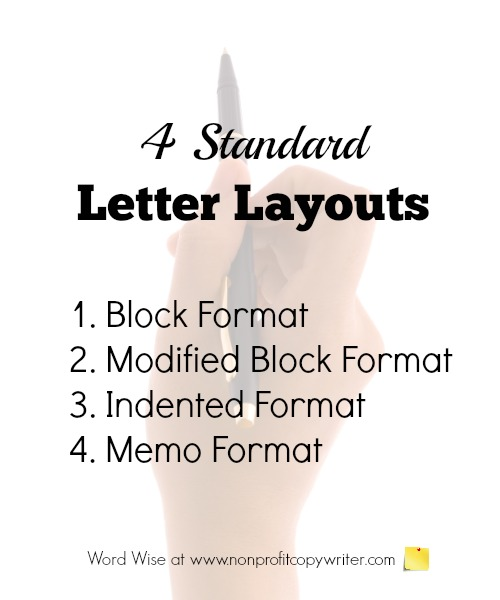 basic letter writing format four standard layouts