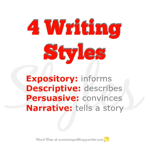 4 writing styles and when to use each one with Word Wise at Nonprofit Copywriter