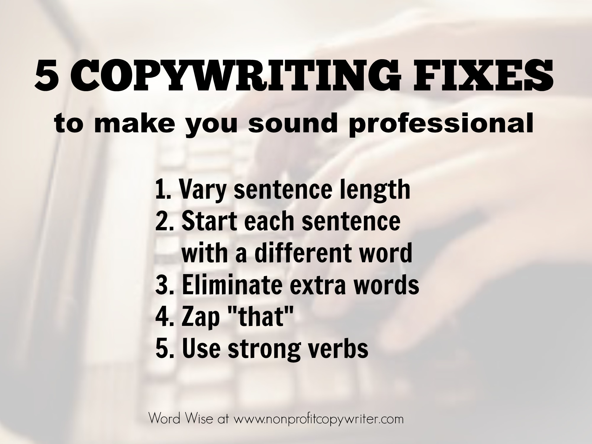 5 copywriting fixes with Word Wise at Nonprofit Copywriter