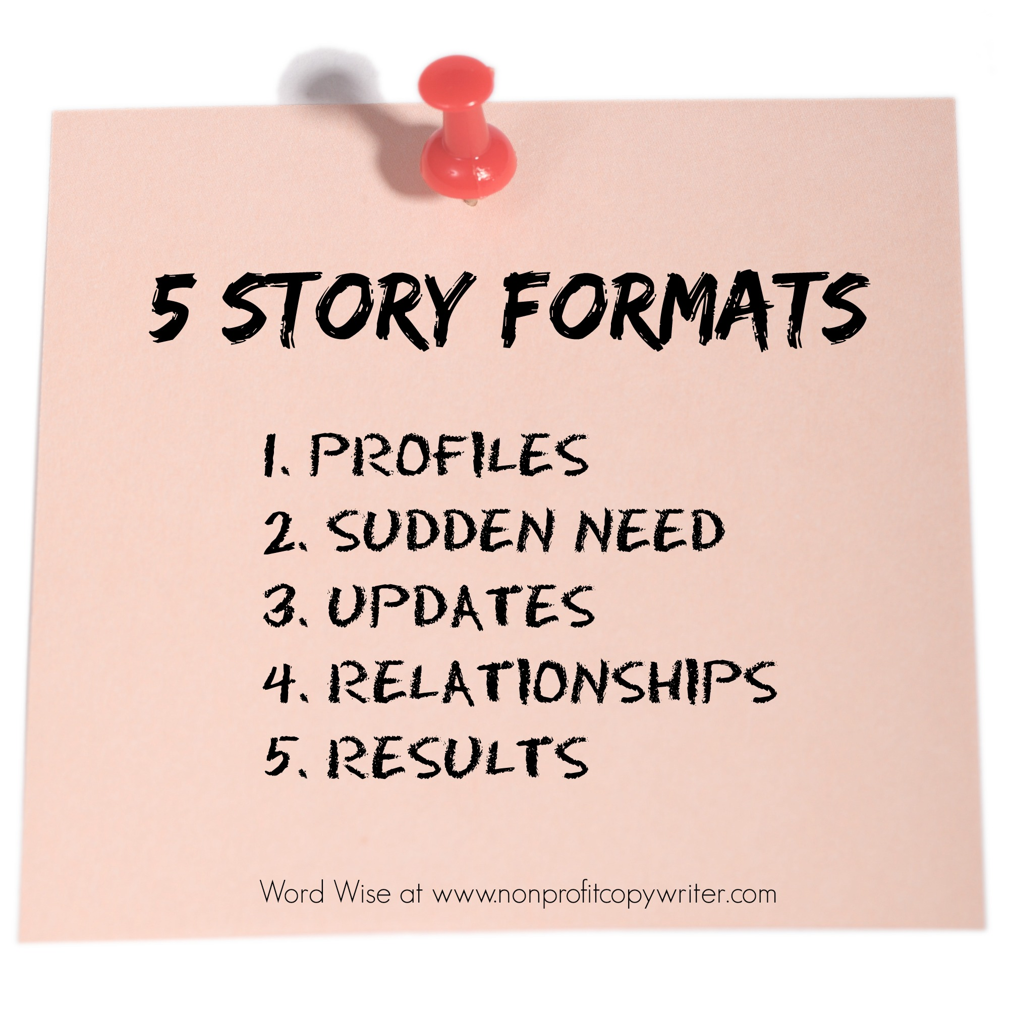5 story formats with Word Wise at Nonprofit Copywriter