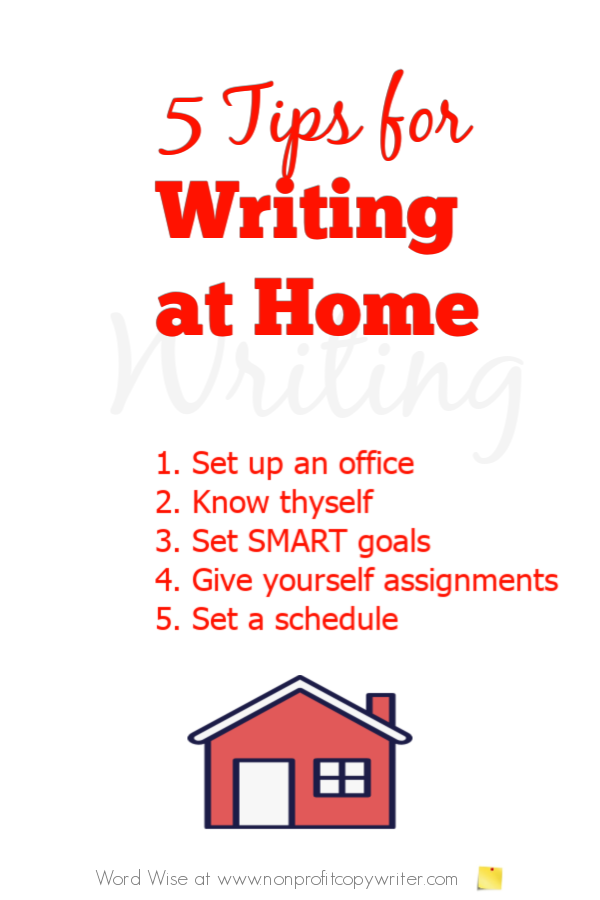 5 valuable tips for writing at home with Word Wise at Nonprofit Copywriter #FreelanceWriting #WritingTips