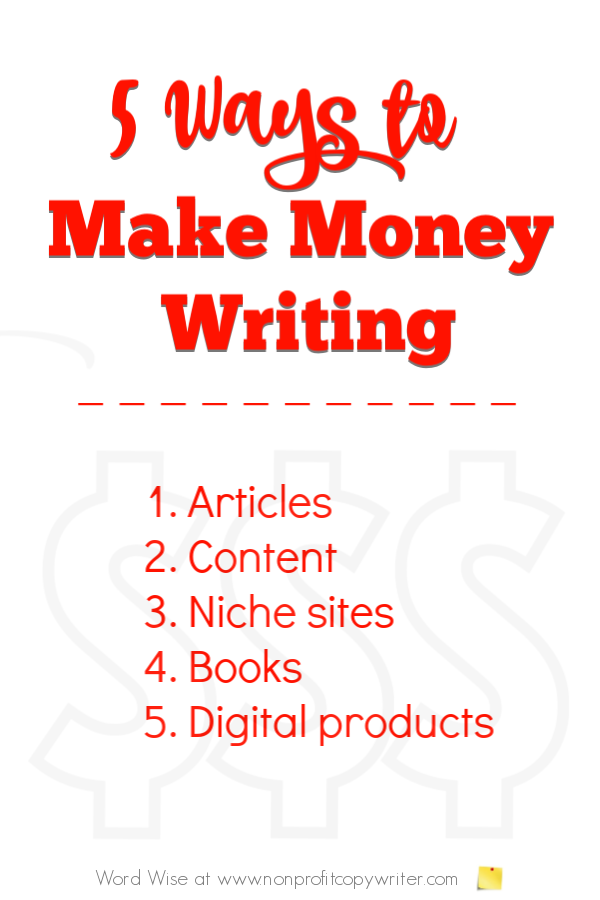 5 tips to make money writing with Word Wise at Nonprofit Copywriter #FreelanceWriting