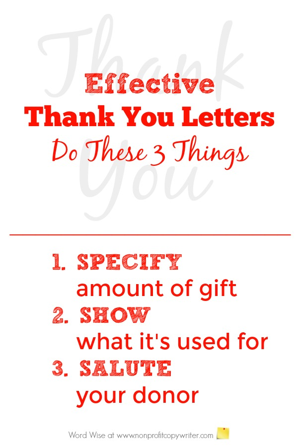 Effective thank you letters do these 3 things with Word Wise at Nonprofit Copywriter