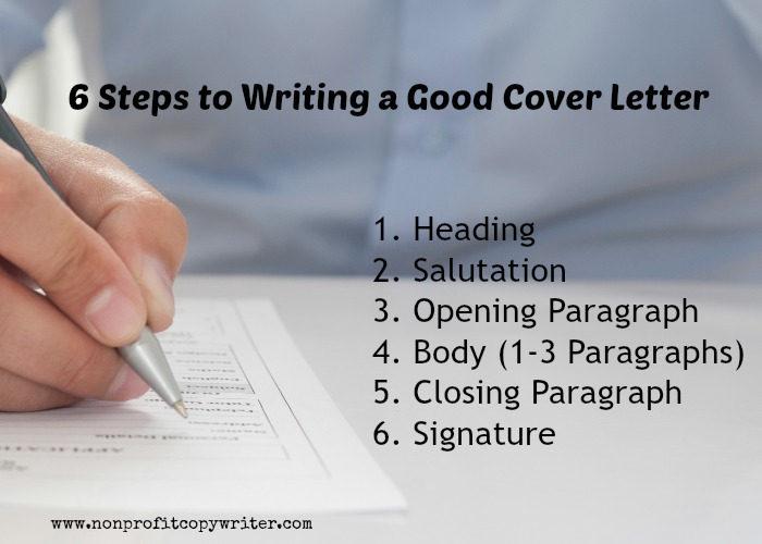 6 steps to writing a good cover letter from nonprofit copywriter