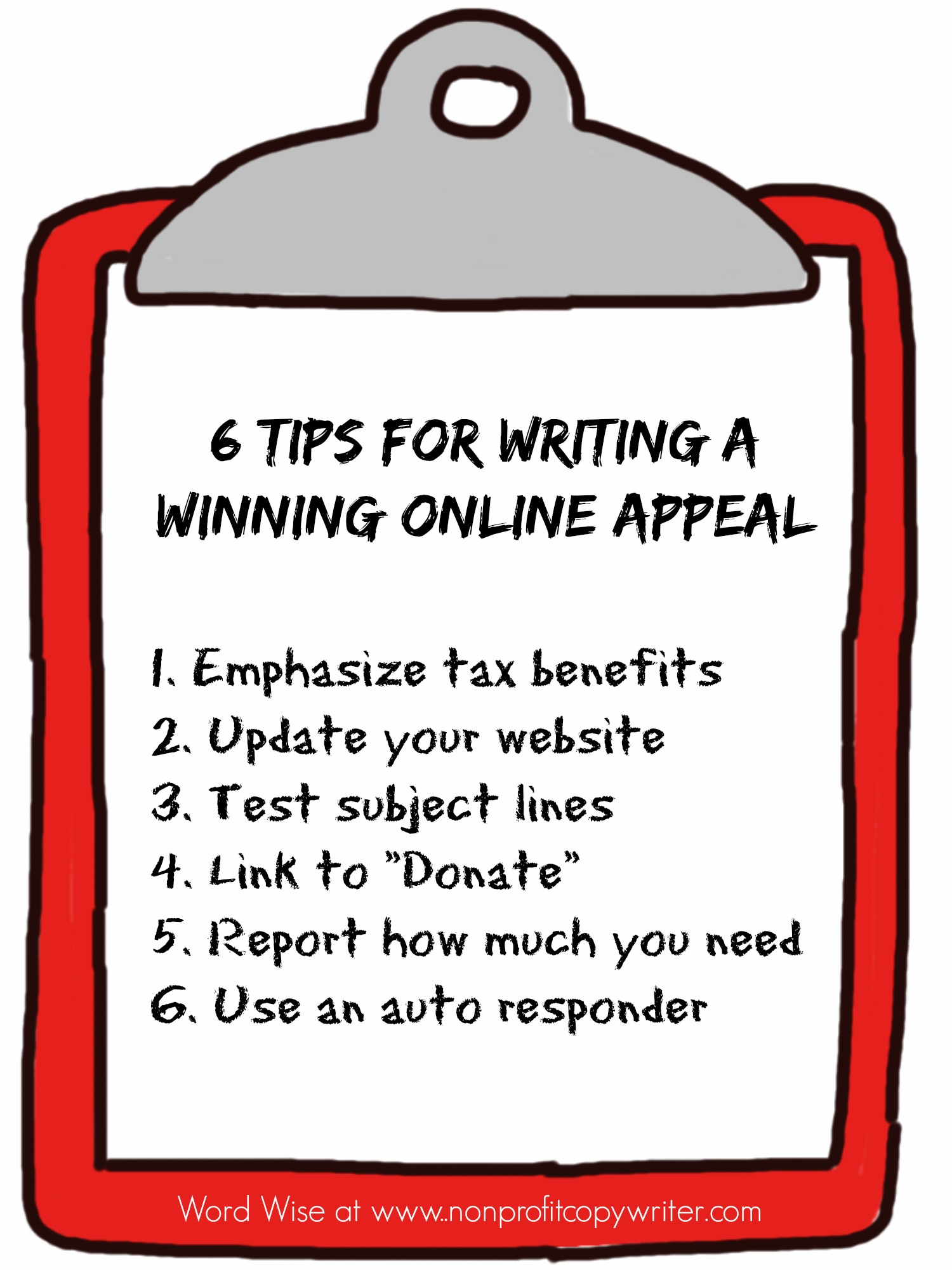 6 tips for writing a winning online appeal with Word Wise at Nonprofit Copywriter