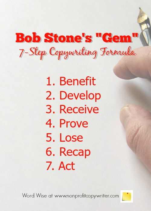 Bob Stone's Copywriting Formula with Word Wise at Nonprofit Copywriter