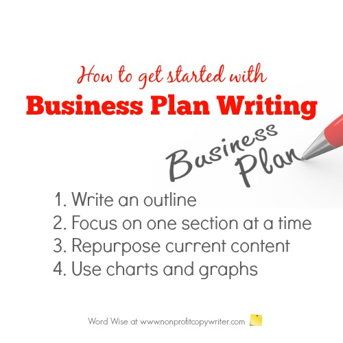 Getting started with business plan writing with Word Wise at Nonprofit Copywriter