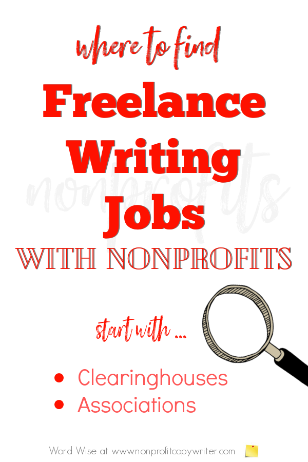 Where to find #FreelanceWriting jobs with nonprofits with Word Wise at Nonprofit Copywriter #WritingTips