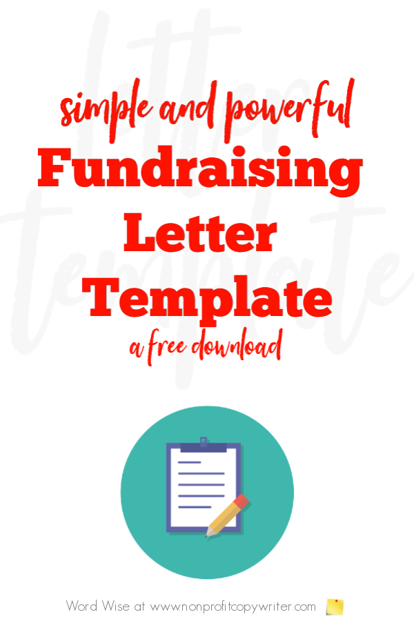 #FundraisingLetter template: free download with Word Wise at Nonprofit Copywriter #FreelanceWriting #Copywriting #WritingTips
