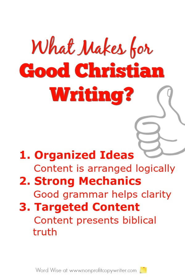 3 qualities of good Christian writing with Word Wise at Nonprofit Copywriter